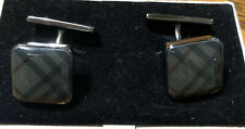 Authentic Burberry Cufflinks Plaid