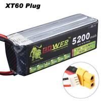 14.8V 4S 5200mAh 30C LiPO Battery XT60 plug For RC model vehicle Lipolymer power