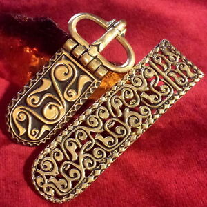 Awarisches Gürtel Set Bronze Larp buckle kit Belt Avar Albania