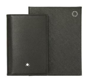 NEW MONTBLANC BLACK LEATHER CARDHOLDER CASE W/BOX AUTHENTICITY TAG CARD