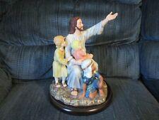 "Homco 1989 Masterpiece Porcelain Jesus & the Children ""Come Unto Me"" Figurine"