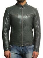 Men leather biker jacket Vintage Distressed Men leather biker Jacket Sale Black