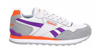 New Reebok Classic Womens Shoes Fashion Sneakers white purple muti size 6 - 11
