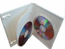 50 SLIM 14mm MULTI 3 TRIPLE DVD CASE BOXES WHITE PSD53