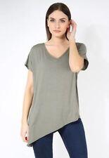 T-shirt, maglie e camicie da donna viscosi con scollo a v taglia S