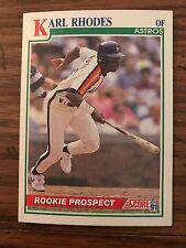 1991 Score Rookie Prospect Karl Rhodes Houston Astros 365