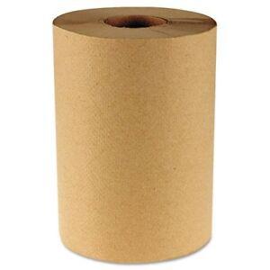 "BOARDWALK 6252 Hardwound Paper Towels, 8"" X 350', One-ply Kraft, 12 Rolls/carton"
