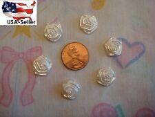 12 acrylic white rose glue on  decoration 13 mm great for decoration invitation