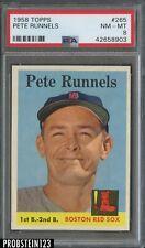 1958 Topps #265 Pete Runnels Boston Red Sox PSA 8 NM-MT