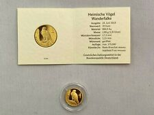 20 EURO Goldmünze - Wanderfalke aus 2019 - Heimische Vögel - Prägestätte F