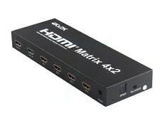 HDMI V 1.4 True Matrix 4 Input to 2 Output Switch Switcher Splitter 4k 2k 3D HD