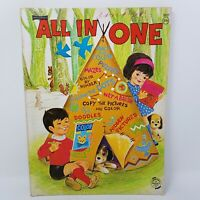 60's All In One Childrens Vintage Coloring Activity Book UNUSED 0517