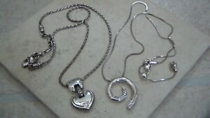 Brighton Necklaces, in Heart Shaped Tin, Set of Two