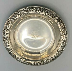 """S. Kirk & Son Repousse Sterling Silver Nut Dish 4"""",  # 424"""
