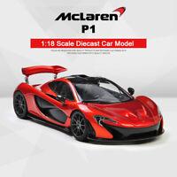 Original 1:18 Scale McLaren P1 Super Sports Car Diecast Model Collection Gifts