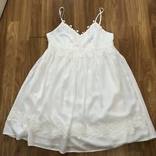 TOPSHOP. SIZE 8. LOVELY IVORY, STRAPPY SUNDRESS. EX CONDITION