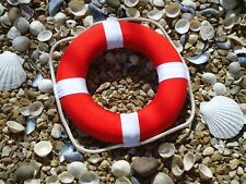 Life Ring Red and White with Rope - Ship / Boat / Wheel / Maritime / Lifebuoy
