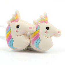 In-Ear 3D Rainbow Unicorn Earphone Headphones For Use With the LG Stylus 2 Plus