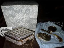 Judith Leiber Swarovski Crystal Purse Clutch Cabochon Blk Diamond Pattern Box