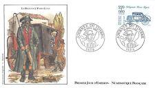 Enveloppe FDC 1er Jour JOURNÉE DU TIMBRE DILIGENCE PARIS LYON 1989