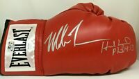 Mike Tyson & Evander Holyfield Signed Right Red Boxing Glove JSA Tyson Holo S
