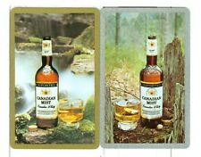 """Two Single Vintage Playing Cards """"Canadian Mist"""" Canadian Whisky Pair"""