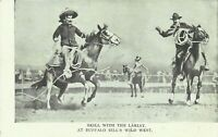 Buffalo Bills Wild West Show Rodeo Cowboys 1905 Undivided Back Postcard