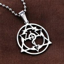 Anime Fullmetal Alchemist Cross Seal Metal Necklace Pendant Cosplay Chain