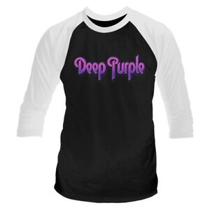 Deep Purple 'Logo' Baseball Shirt - NEW