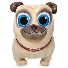 """DISNEY STORE PUPPY DOG PALS ROLLY SMALL PLUSH PUG 12"""" H BINGO'S BROTHER"""