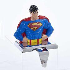 Kurt Adler Superman STOCKING HOLDER w Retractable Hook 2016