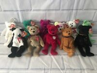 ec2d2c7c9b8 Lot of 11 Ty Beanie Babies Assorted Bears with Hang Tags 1990s New Various