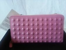 NEW MCM TANTRIS ZIPPED CROSSBODY WALLET PINK Tantris Leather 100% AUTHENTIC