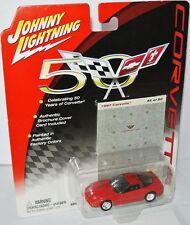 Corvette 50 Years - 1997 CHEVY CORVETTE - red - 1:64 Johnny Lightning