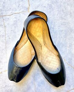 Pakistani Real Leather Khussa Flat Shoes