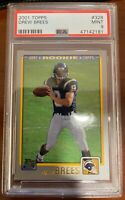 2001 Topps Drew Brees #328 RC Rookie Card PSA 9 MINT