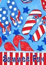 "New listing Spring Summer Beach Pool Flip Flops Mini Flag ""Summer Fun"""