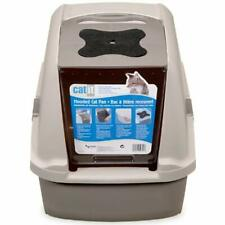 Hooded Litter & Housebreaking Cat Pan - Gray Boxes Pet Supplies