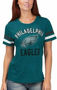 G-III 4her Philadelphia Eagles Women's Extra Point Bling T-Shirt - Marine Green