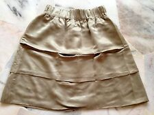♥ NEW Eclipse Gold Satin Suede Skirt S