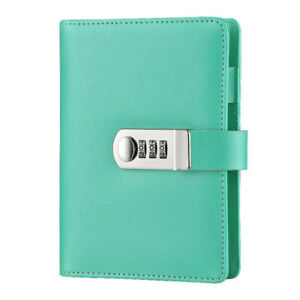 A6 Girls Glitter Diaries Notebook PU Leather With Code Lock Secret Diary
