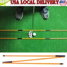 Golf Alignment Sticks Swing Plane Tour Training Aids Practice Rods Trainer Tool
