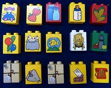 Lego  Duplo viele bedruckte Steine (DU75-116 )