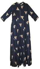 Blue Indian Rayon Flex Gypsy Ethnic Dress Blusa Blouse Ehs Women Retro Hippie