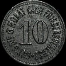 NOTGELD: 10 Pfennig 1917, Zink. Funck 454.1. ROTTENBURG AN DER LAABER / BAYERN.