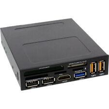 InLine Frontpanel für Floppy Schacht, Reader, HDMI, USB 2 / 3.0, Auflade-Buchsen