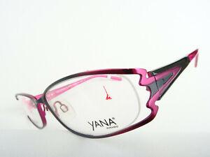 Pink-graue Damenbrille Damenfassung teilrandlos ausgefallen breite Bügel Gr. M