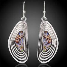 Antique Silver Plated Hook DropDangle Earrings Ethnic Eardrop Earrings JewelrySC