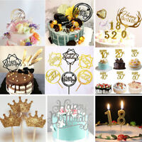 Happy Birthday Acrylic Cake Topper Decorating Supplies Decor Cake Stand Topper