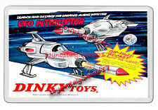 DINKY TOYS 351 WHITE UFO INTERCEPTORS RETRO NEW JUMBO FRIDGE  MAGNET